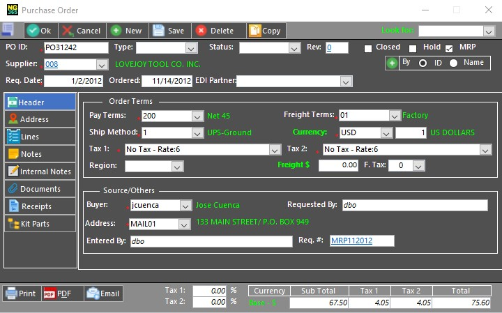 purchase requisition forms